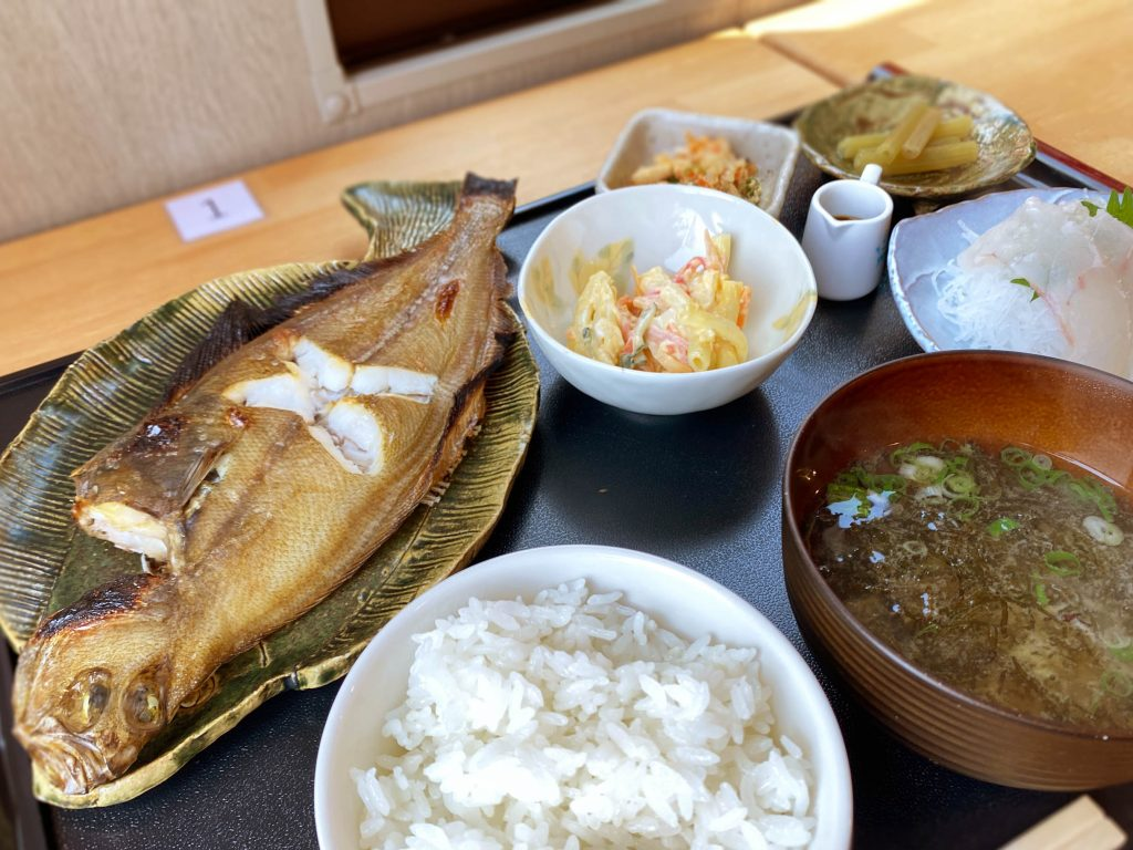 焼き魚と刺身の「広福丸Aランチ」