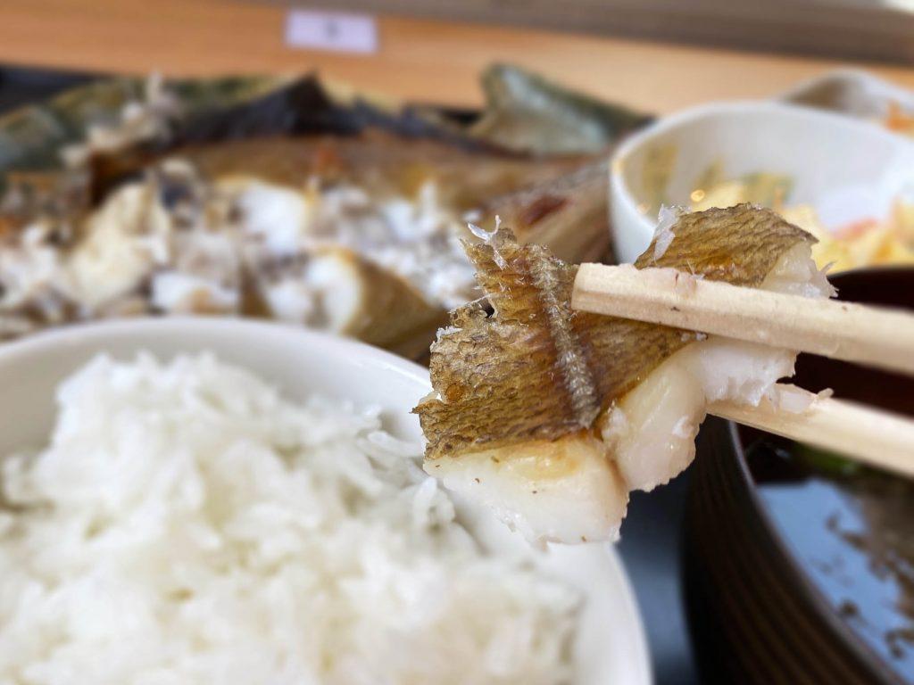一夜干カレイの焼き魚