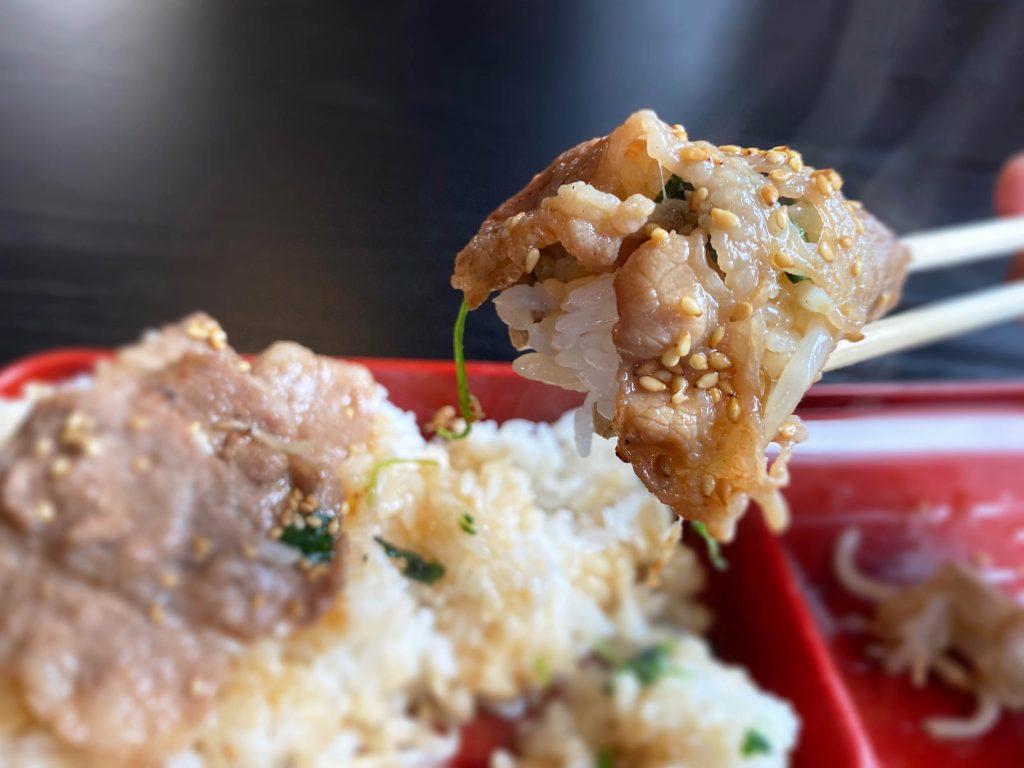 蓮桜 牛焼肉弁当アップ